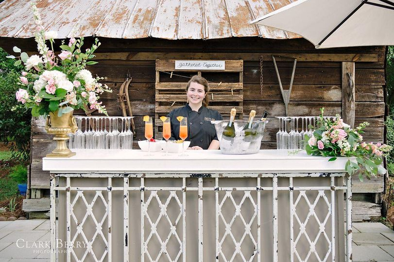 Outdoor champagne bar