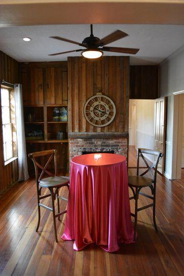 Cozy wooden keeping room
