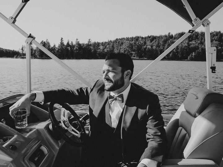 Tmx 1480366199996 Groom On Boat Saranac Lake wedding planner