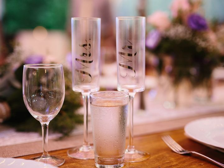 Tmx 1480366316723 Mr. Mrs. Champagne Glasses Saranac Lake wedding planner