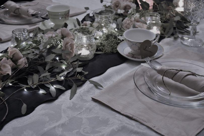 Vintage theme table spread