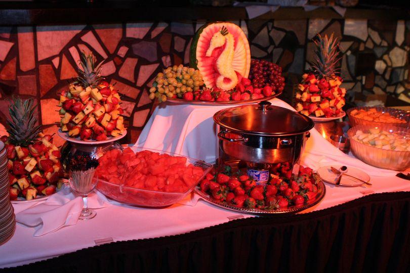 Chocolate and Fruit Display