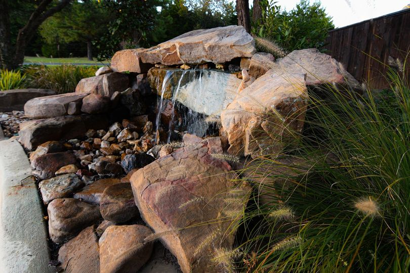 Water feature south side