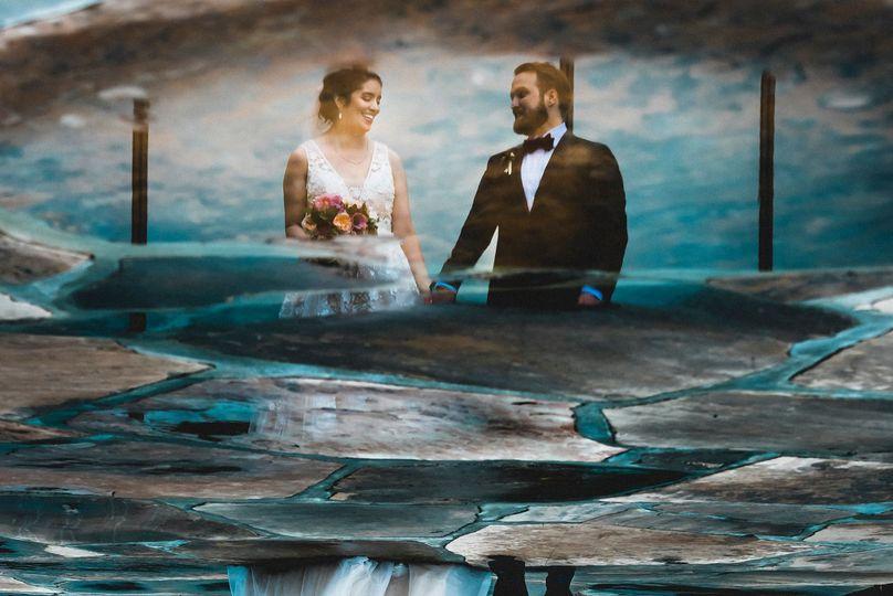 Rainy day wedding in Orange County