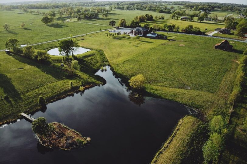 Aerial view of the grounds