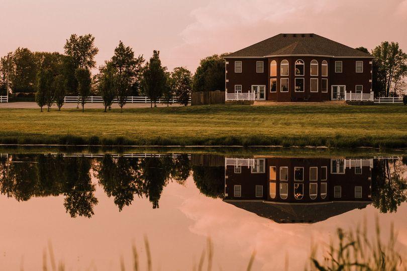 Mansion and lake