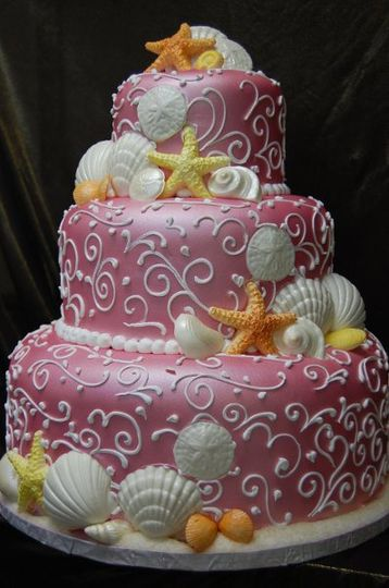 Shell cake . Pink luster dust. Alternative To Rolled Fondant. This is not a hard icing