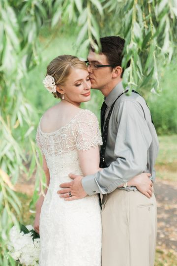 christmas tree farm backyard wedding photos boone