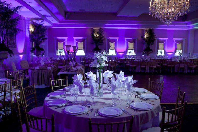 Dramatic purple uplighting