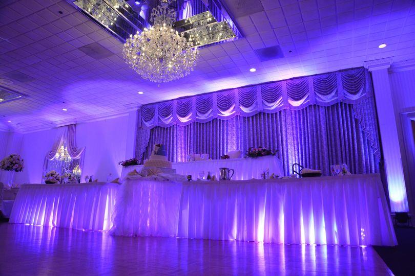 Purple Uplights At Celebration