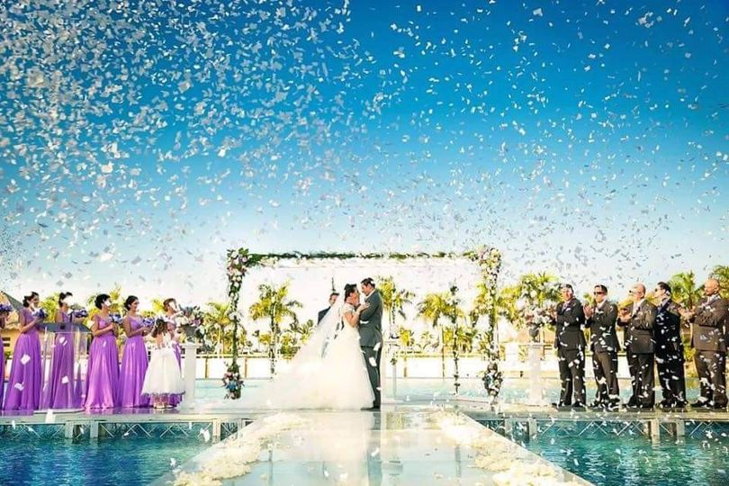 Wedding at a resort