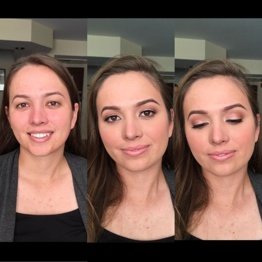 B&A bridesmaid makeup