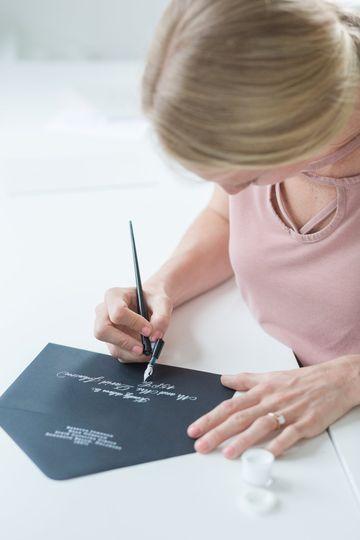 Katy, owner & calligrapher