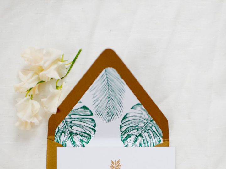 Tmx Lewesletteringco Tropical Wedding Save The Date Pineapple Gold 51 946177 Lewes wedding invitation
