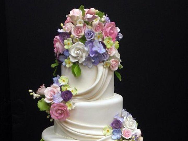 Tmx 1329060929120 DrapesandRoseBouquets2 Port Jefferson, New York wedding cake