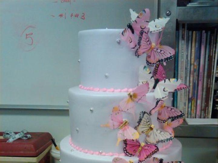 Tmx 1329065262167 Butterfly4Tiers Port Jefferson, New York wedding cake