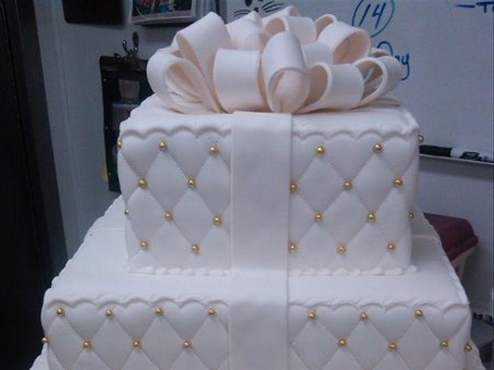 Tmx 1329065302339 QuiltedGoldPresent Port Jefferson, New York wedding cake