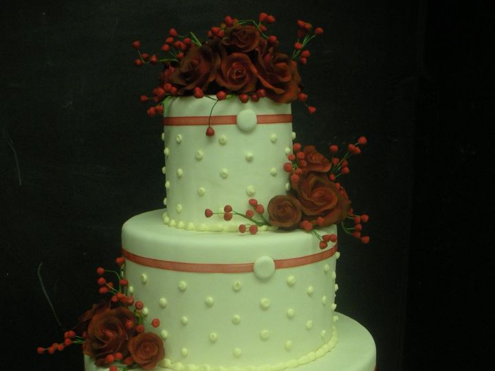 Tmx 1341943824943 RedRoses4 Port Jefferson, New York wedding cake