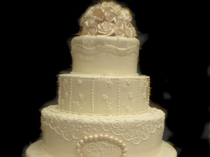 Tmx 1342367316407 5tierIvoryBuddyCake Port Jefferson, New York wedding cake