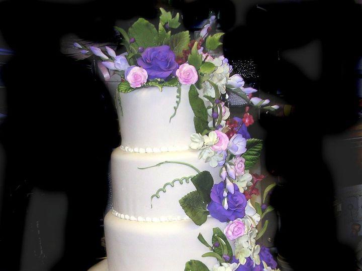Tmx 1342367342672 ArkerWeddingCake2 Port Jefferson, New York wedding cake