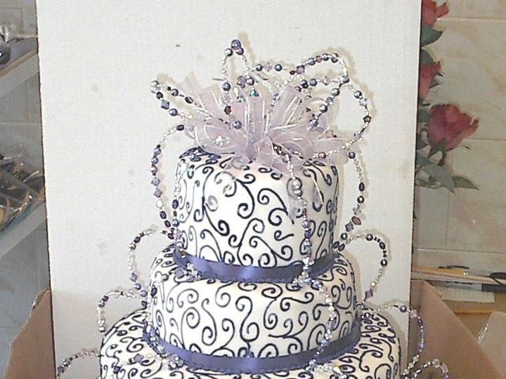 Tmx 1342367501478 PurpleCrystalCake Port Jefferson, New York wedding cake