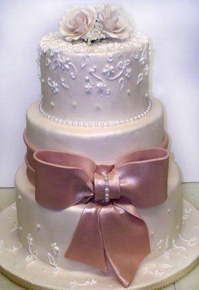 Tmx 1342367572995 MochaBowandIvoryLace101606 Port Jefferson, New York wedding cake