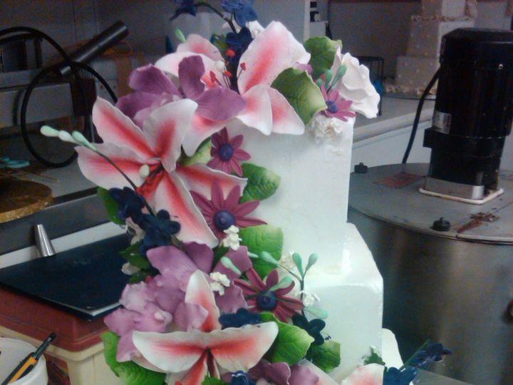 Tmx 1342367612373 ColorfulCascade Port Jefferson, New York wedding cake