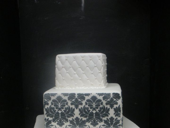 Tmx 1342367647662 DamaskQuilt3 Port Jefferson, New York wedding cake