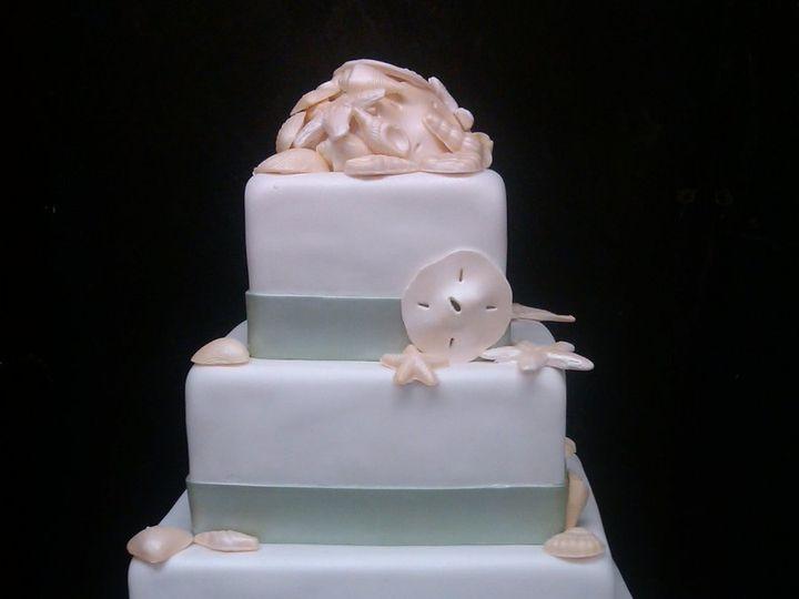 Tmx 1342367660913 BeachWed2 Port Jefferson, New York wedding cake
