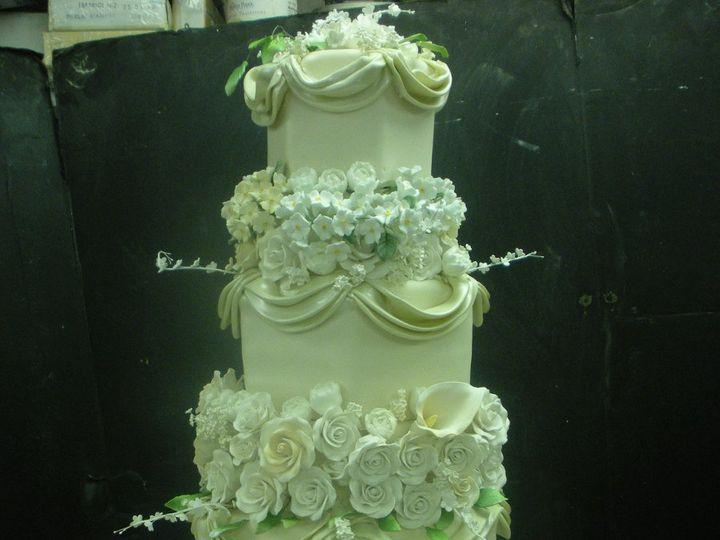 Tmx 1342367675268 HexagonRoses2 Port Jefferson, New York wedding cake