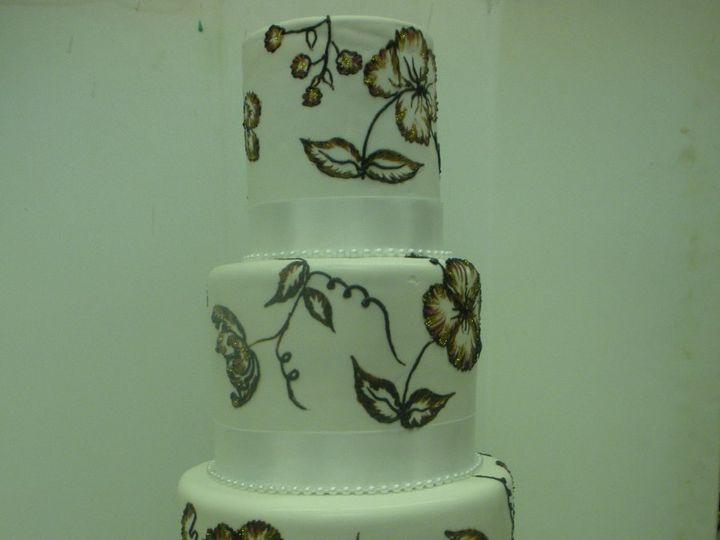 Tmx 1342367696593 IngridCake4 Port Jefferson, New York wedding cake