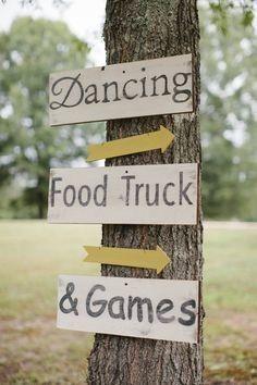 food truck wedding sign