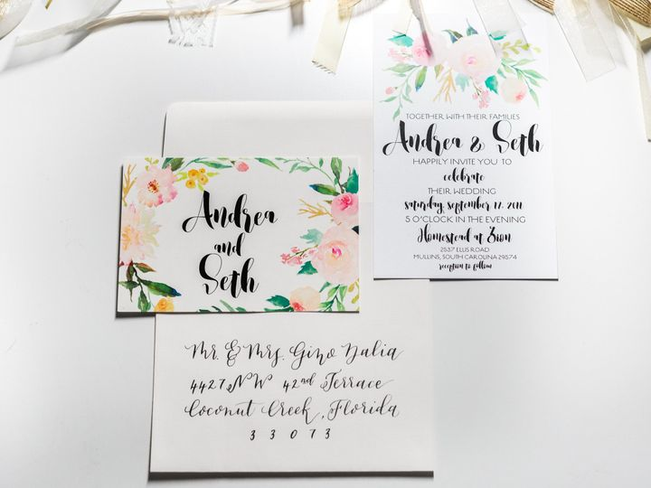 Tmx 1471572667420 2016 2 Myrtle Beach wedding invitation