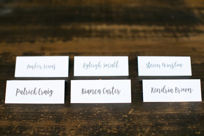 """""""bouncing brush"""" place cards"""