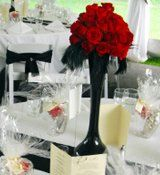 Rose red centerpieces