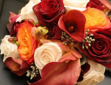 Autumn color centerpieces