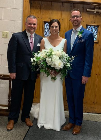 Bride and Groom with Pastor D