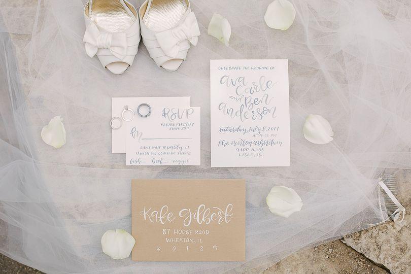 Wedding invitation - brooke tobin photography