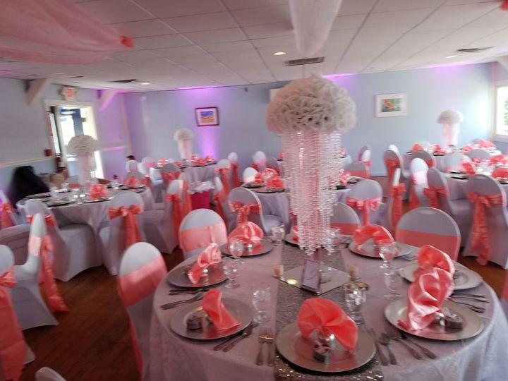 Pink reception decor