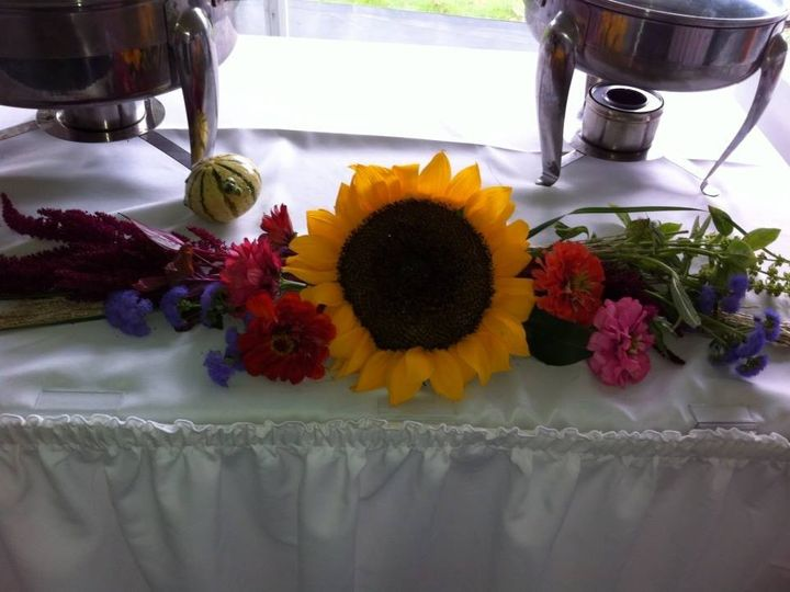 Tmx 1380035605832 Fresh Flowers On The Buffet To Match Wedding Theme Medway wedding catering