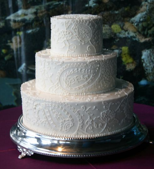 White cake with decorations