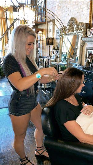 Hair extensions by Deja Bougie