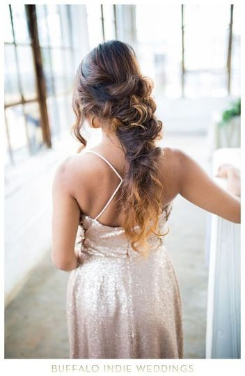 Elegant messy braid