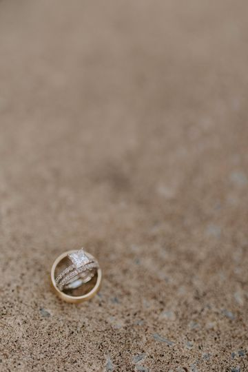 Close-up of the rings - Anjali Nooka Photography