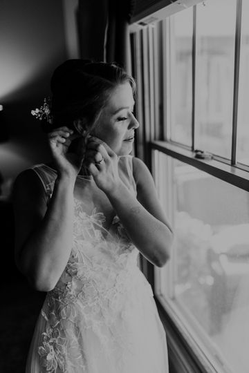Bride by the window - Anjali Nooka Photography
