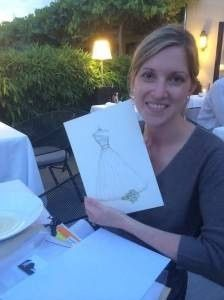 I love when our customers send us photos of their sketch in a frame or with the lovely wife herself.