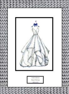 Customized Wedding Dress Sketc