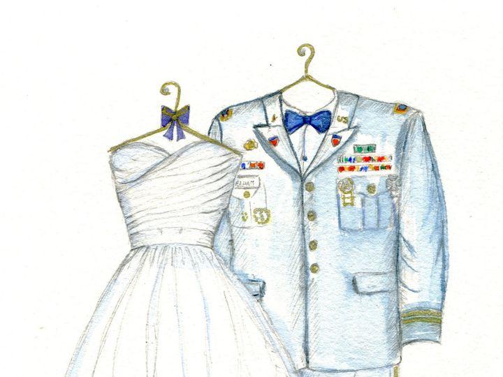 Tmx 1414142913297 Dreamlines Military Suit And Wedding Dress Sketch O Fallon wedding favor