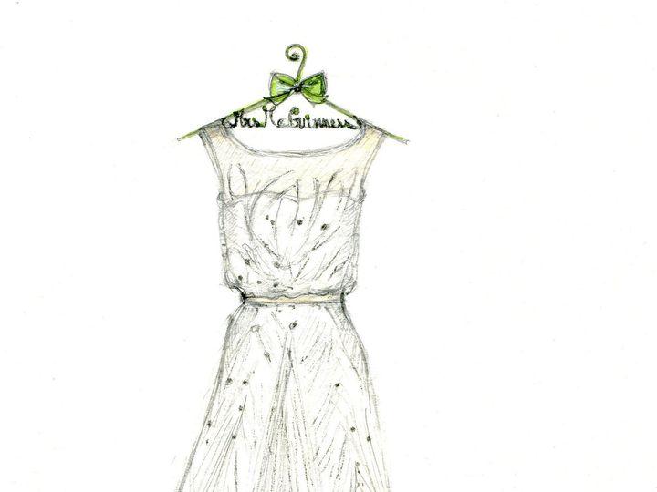 Tmx 1477425434429 Dreamlines Wedding Dress Sketch Wg 2080 O Fallon wedding favor