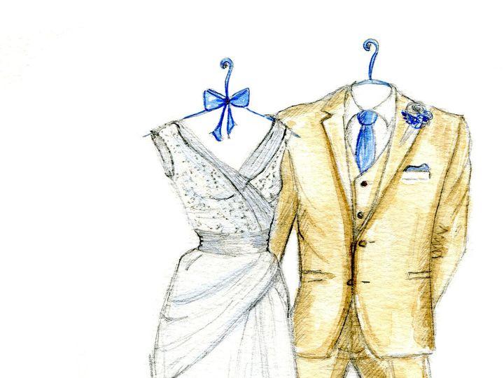 Tmx 1477425522563 Dreamlines Wedding Dress Sketch Wg 2104 O Fallon wedding favor